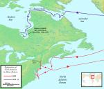 A Map of Henry Hudson's Voyages-Jon Platek